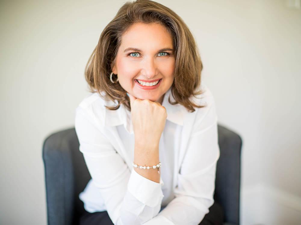 A portrait of Kristine Delano